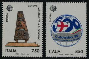 Italy 1881-2 MNH Discovery of America, Globe, Monument, EUROPA