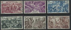 French West Africa Scott C5-C10 Mint & Used! Complete Set!