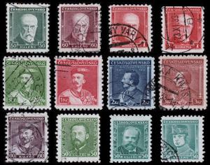 Czechoslovakia Scott 168 // 208 (1930-35) Used/Mint H F-VF Complete Sets B