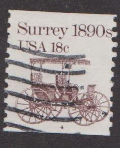 US #1907 Surrey Used PNC Single plate #4