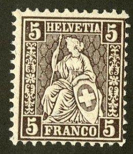 SWITZERLAND 43 MNH SCV $3.90 BIN $2.00 WOMAN