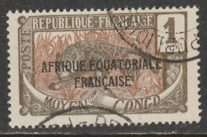 Afrique Equatorial Francaise 1924  Scott No. 23  (O)