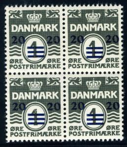 DENMARK FAROE ISLANDS SC# 2-6 MI# 2-6 MNH BLOCKS OF FOUR BRITISH ADMINISTRATION
