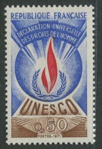 France Unesco - Scott 211 - Unesco Issue -1969 - MLH - Single 50c Stamp
