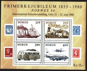 Norway. 1980. bl 3. Postal transport. MNH.