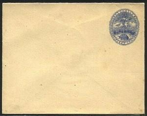 SEYCHELLES 1890s 15c Palm & Tortoise envelope unused.......................19256