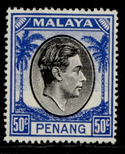 MALAYSIA - Penang GVI SG19, 50c black & blue, NH MINT.