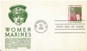 US  UX56  FDC  Women Marines  Anderson Cachet