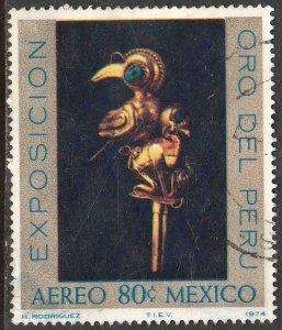 MEXICO C425, PERUVIAN GOLD TREASURES EXHIBITION. USED. F-VF. (1297)
