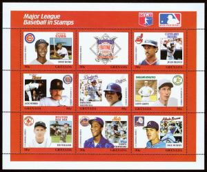 Grenada Scott 1667 Baseball Series (1988) Mint NH VF C