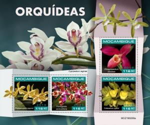 MOZAMBIQUE - 2019 - Orchids - Perf 4v Sheet - MNH
