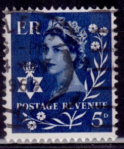 Great Britain, Northern Ireland, 1968, QEII, 5p, sc#10, used