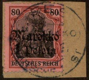 Germany 1911 FES Mi54 CDS Morocco Marokko 1Pes on 80pf USED 102612