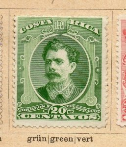 Costa Rica 1899 Early Issue Fine Mint Hinged 20c. NW-09191