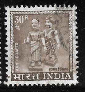 India 414: 30np Handicrafts, used, F-VF