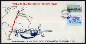 Falkland Islands 276-277 U/A FDC