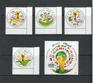 IRAQ: Sc. 1948-52 /** WORLD CUP SOCCER IN BRAZIL ** / SET & SS - MNH.