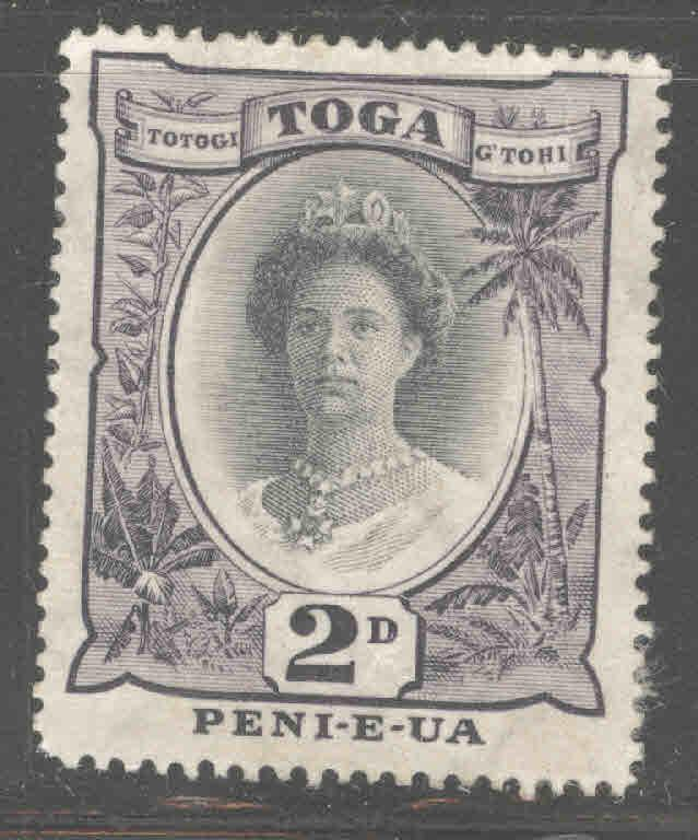 TONGA  Scott 56 Mint no gum Queen Salote with turtle watermark