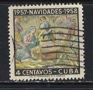 CUBA 589 VFU CHRISTMAS H431-3