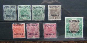 Burma 1937 Service values to 1R MM