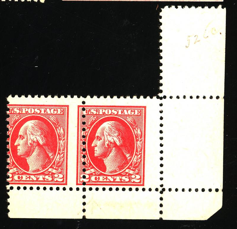 526 MINT Misperfed PAir F-VF NH Est$100+