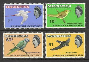 Mauritius Sc# 302-305 MH 1967 Red-Tailed Tropic Bird