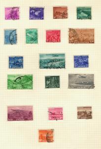 1955 India SC #254-71 SYMBOLS OF MALARIA CONTROL Θ used stamp set
