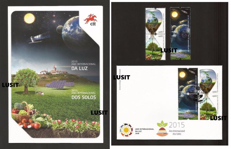 - PORTUGAL Unesco 2015 YEARof SOILS & LIGHT space Earth Sun solar energy TREE Z1