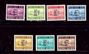 Guernsey J1-7 MH 1969 Postage Due set