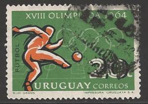 Uruguay 1965 20c Olympics, Scott #722, used