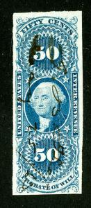 US Stamps # R62a XF Used Scott Value $55.00