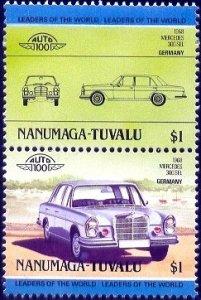 Automobile, 1968 Mercedes 300 SEL, Tuvalu Nanumaga stamp SC#20 MNH