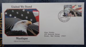 2003  FDC, UNITED WE STAND - MUSTIQUE, ST. VINCENT