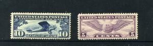 C10 and C12  Mint NH CV $31