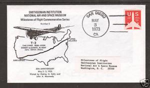 US 1973 Smithsonian First Flight Cover No. 5 VF