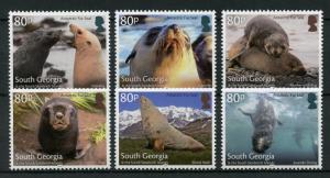 South Georgia & Sandwich Isl 2018 MNH Antarctic Fur Seals 6v Set Animals Stamps
