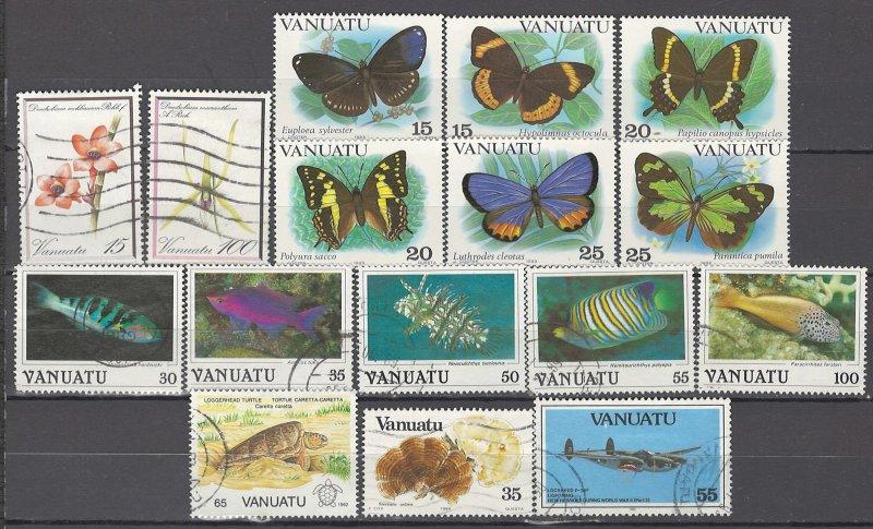 COLLECTION LOT OF # 958 VANUATU 16 STAMPS 1982+ CV + $22