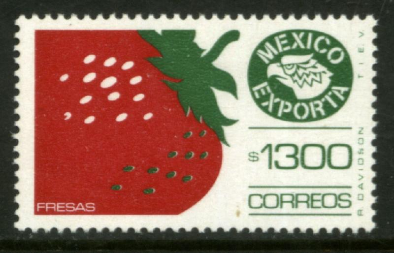 MEXICO Exporta 1591 $1300P Strawberries w/o bur Paper 13 MNH