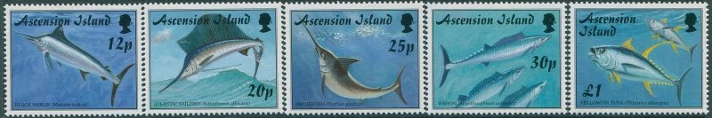 Ascension 1997 SG728-732 Gamefish set MNH