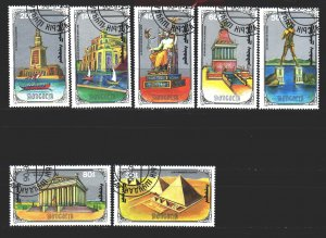 Mongolia. 1990. 2174-80. 7 wonders of the ancient world. USED.