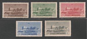 Lebanon #C154-C158 (AP40) VF MNH - 1950 10p to 50p Crusader Castle, Sidon Harbor