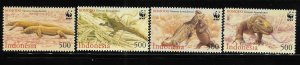 Indonesia 2000 WWF Komodo Dragon Sc 1911-1914 MNH A1298