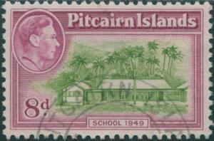 Pitcairn Islands 1940 SG6a 8d School FU