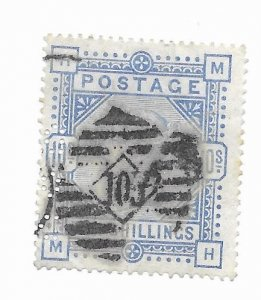 Great Britain #109 Perfin F-VF Used Hinge Remnants - Stamp - CAT VALUE $550.00
