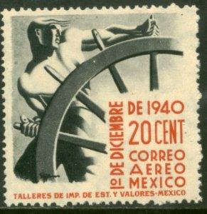 MEXICO C114, 20¢ Presidential Inauguration MINT, NH. F-VF.