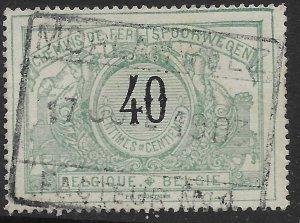 Belgium Q26 used.  Railway Stamp