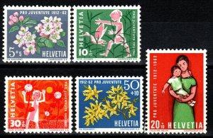 Switzerland #B318-22 MNH CV $3.35 (X296)