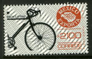 MEXICO Exporta 1599, $2100P Bicycles w/Burelage Fluo Paper 13. MINT, NH. F-VF.
