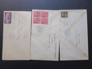 US 13 Different 1930s Uncacheted FDCs - M221