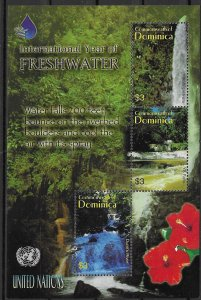 Dominica MNH S/S International Year Of Freshwater  Gorgeous!!!!